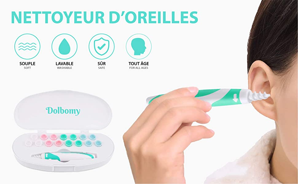 silicone kit bougie poire nettoyage cerumen bebe wax auditif cleaner piles reutilisable spray anale