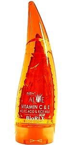 BioRLX Purity Aloe Vera, Vitamin C & E, Kojic Acid and Rice Milk Gel