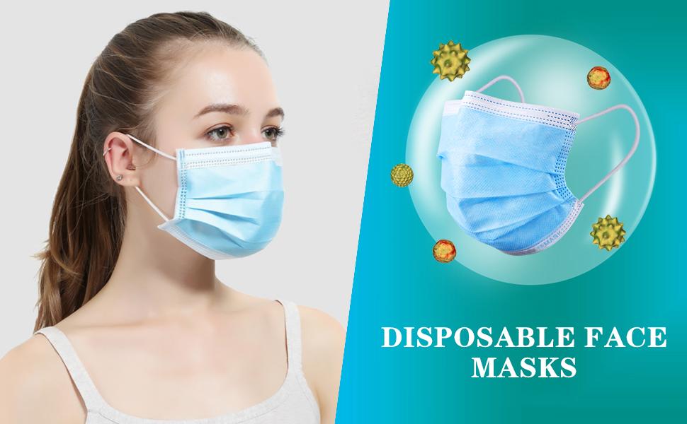 MSAAEX Disposable Face Masks