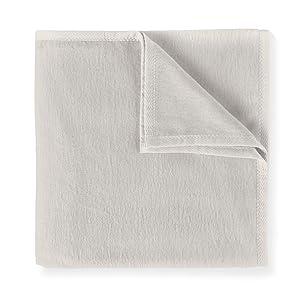 long staple cotton bed blanket throw Flint grey gray