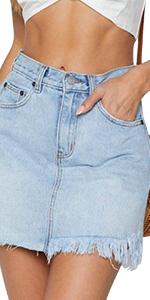 blue jean skirts