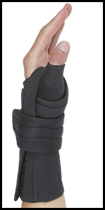 Comfort Cool Thumb Wrist CMC Restriction brace pain swollen arthritis over use repetitive neoprene