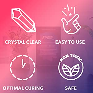 Epoxy Lab Resin Benefits Crystal Clear 1:1 Non-Toxic Food-safe