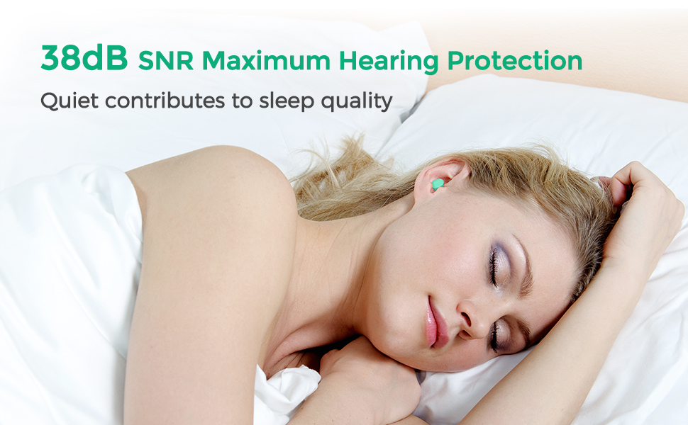 viaggi protezione acustica SNR 38 dB con custodia in alluminio progetti tappi per le orecchie contro il rumore per dormire Mpow 133 Tappi per orecchie in schiuma cancellare studiare 60 coppie