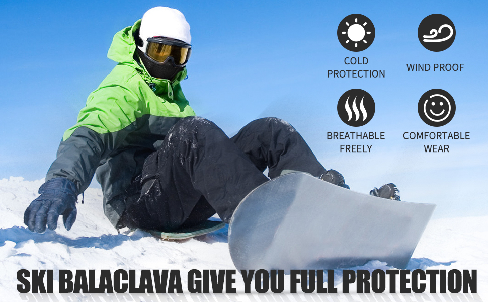Balaclava Ski Mask, Warm Windproof Face Neck Gaiter Headgear