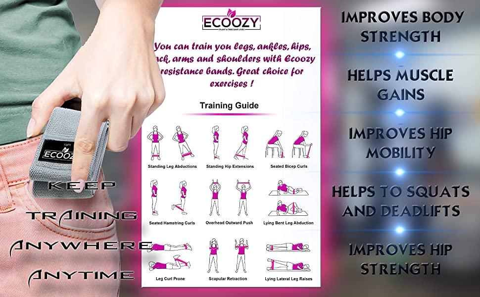 Resistance Bands with training guide