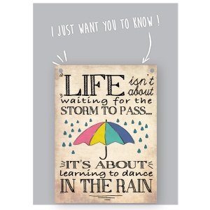 Vintage Style WITHOUT RAIN NO RAINBOWS Mini Metal Umbrella WALL PLAQUE Sign