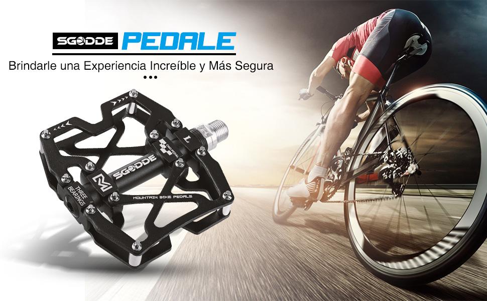 SGODDE Pedales, Pedales de Bici CNC Aleación de Aluminio ...