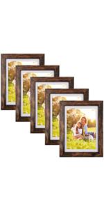 5x7 brown frames