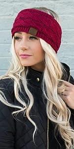 headband headwrap head wrap ear warmer muff sherpa fuzzy lined earwarmer earmuffs warm winter wear