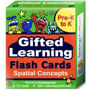 Gifted Learning Flash Cards Spatial Concepts Flash Cards, TestingMom Flash Cards, Kindergarten