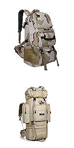 登山リュックサック 大容量バックパック 旅行用リュックサック 防水 通気 独立靴用コンパートメント 撥水加工 撥水 おすすめ