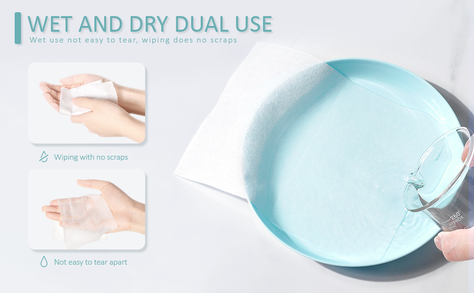Disposable Cleaning Towel Facial Cleansing Cloths Cotton Tissue Makeup Facial Soft Pads Extra Thick