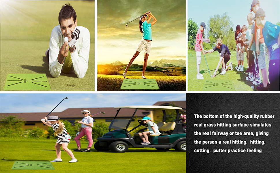 golf swing training mat