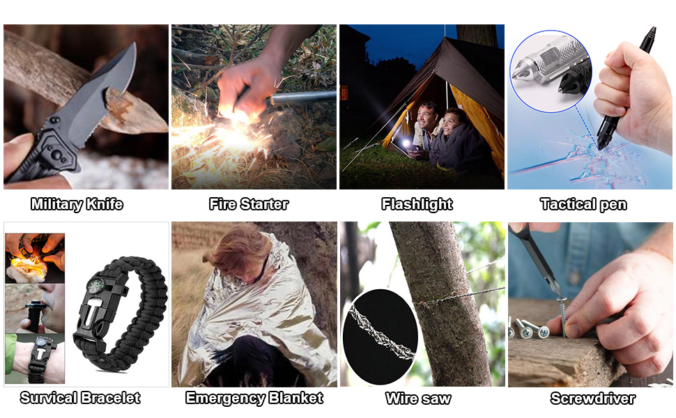 LLEVORY J Survival Gear and Equipment,Emergency Survival 30 in 1