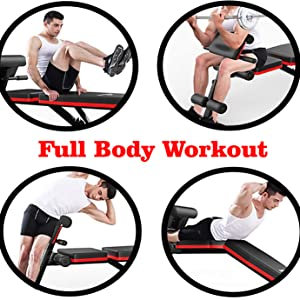 workout bench full body workout sit up arm side waist dumbbell