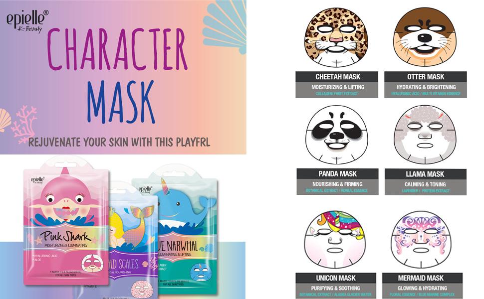 Animal Sheet Mask For Fun
