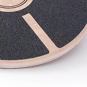 Balance Board rund mit Anti-Rutsch-Unterlage Balancegerät aus Holz Fitness Sportgerät für zuhause