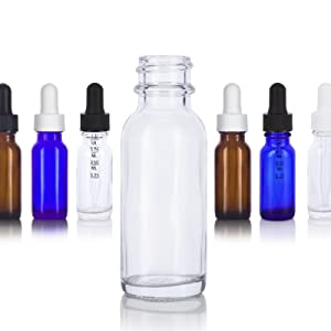 Dropper Bottles with a variety of Droppers