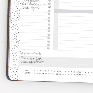 2021 A4 day to a page desk companion appointments plans crucial tasks to do lists micro calendars