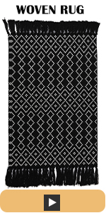 white black tufted area rug 2x3