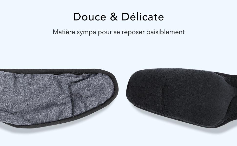 Lavable ESR Masque de Nuit Bluetooth Yoga /& Voyage Gris id/éal pour Nuit 3D Masque de Sommeil Casque Musical Bluetooth 5.0 sans Fil Douce D/élicate /à la peau et Taille R/églable Sieste