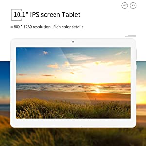 Tablet 10.1 Inch Android 9.0 3G Phone Tablets with 32GB ROM Dual Sim Card 2MP+ 5MP Camera, WiFi, Bluetooth, GPS, Quad Core, HD Touchscreen, Support 3G Phone Call(Silver) 776ef60e a036 4af7 8edf 0fb4813d3c06