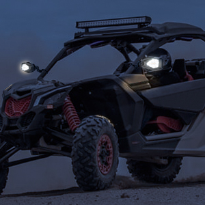 UTV mirrors with ligths