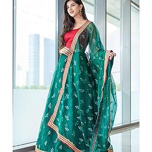 green color lehengha choli