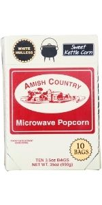 Baby White Sweet Kettle Corn Microwave Popcorn