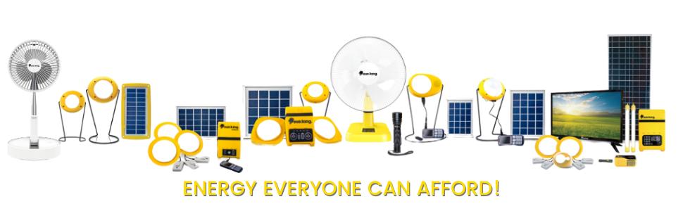 Sun King range of solar products