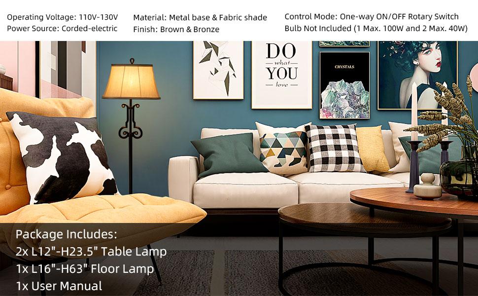 indoor lamps set