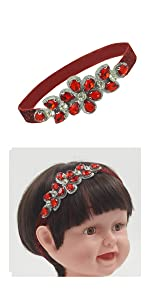 bling red headband for baby