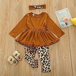 Leopard outfits set