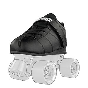 crazy skates rocket roller skate for men derby rink speed black quad classic wheels urethane