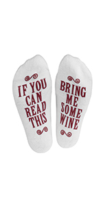 socks, wine, novelty, women, gift, read this, funny, cute, ankle
