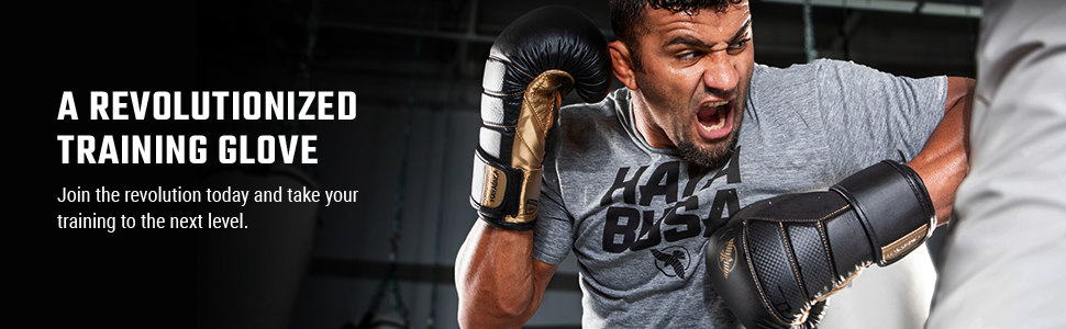 Athlete hitting heavy bag with elbow