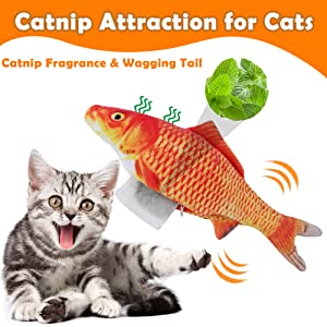 cat toys with catnip fish toy