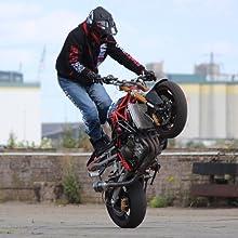 Wasserdicht /& Atmungsaktiv XL Aramid Motorrad-Jacke Broken Head Made2Rebel Motorrad-Hoodie Gr/ün Abnehmbare Kapuze