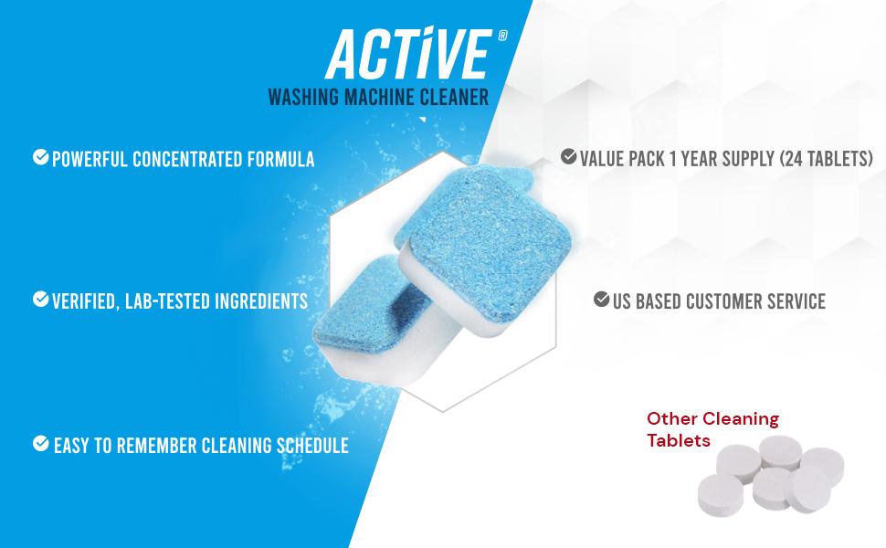 active, washing, machine, cleaner, benefits