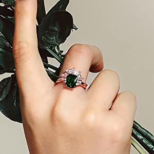 Created Emerald Cubic Zirconia, Pear Shap,