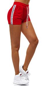 OZONEE Damen Sporthose Kurz Shorts Sweatpants Trainingshose Kurze Hose Bermuda Sportshorts Jogginghose Freizeithose Sweatshorts Damenhose Sport Capri Caprihose JS//1021//D