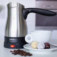 0,30 Liter Elektrischer Türkischer Kaffeekocher aus Edelstahl Mokkakocher 800 W