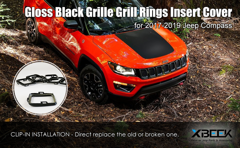 2017 2018 Jeep Compass Grille Ring Inserts