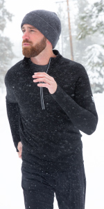 MERIWOOL new 320g half zip sweater is made of all natural 18.5 micron 100% merino wool