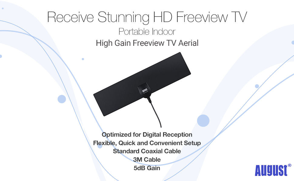 August DTA420 - Antena de TV DVBT/DVB-T2: Amazon.es: Electrónica