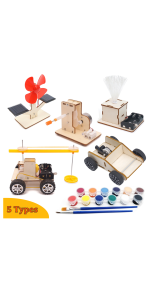 Energy Science Learning DIY Kits for Kids