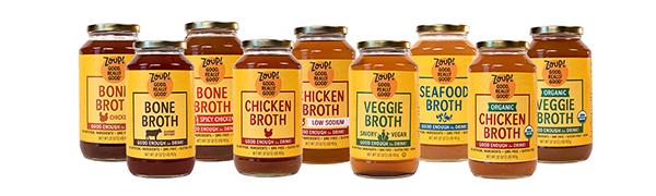 zoup good really good veggie chicken beef bone broth low sodium vegetable healthy soup stock gluten