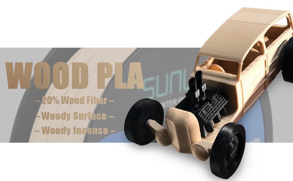 wood pla 3d printer filament 1.75mm