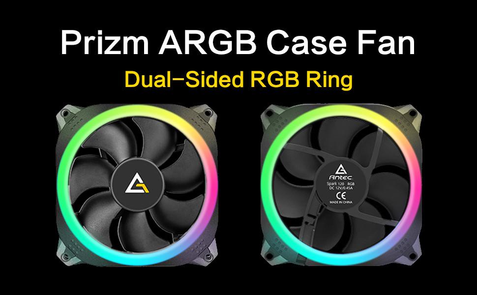 Antec Prizm 140mm Addressable RGB Case Fan Radiator (no controller hub included